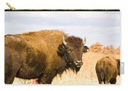 Bison On Tall Grass Iv Carry-all Pouch