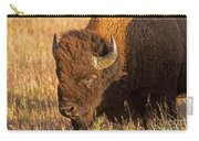Bison Potrait At Teh Elk Ranch In Grand Teton National Park Carry-all Pouch