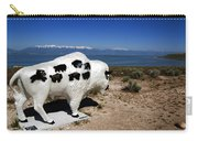 Bison Sculpture Great Salt Lake Utah Carry-all Pouch