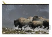 Bison Stampede Carry-all Pouch by Daniel Eskridge