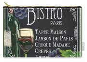 Bistro Paris Carry-all Pouch by Debbie DeWitt