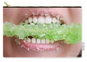 Biting Into Green Rock Candy  Carry-all Pouch