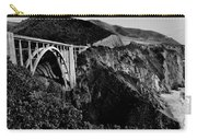 Bixby Black And White Carry-all Pouch by Benjamin Yeager