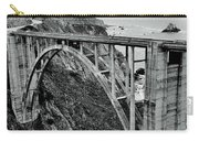 Bixby Creek Bridge Black And White Carry-all Pouch by Benjamin Yeager