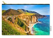 Bixby Creek Bridge Oil On Canvas Carry-all Pouch