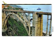 Bixby Creek Bridge Panorama Carry-all Pouch by Benjamin Yeager