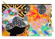 Bizzarro Colorful Psychedelic Floral Abstract Carry-all Pouch