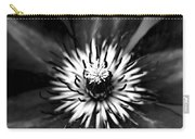 Black And White Clematis Carry-all Pouch