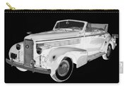 Black An White 1938 Cadillac Lasalle Pop Art Carry-all Pouch