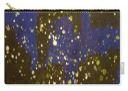 Black And Blue Splatter Carry-all Pouch
