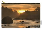 Black And Orange Carry-all Pouch by Adam Jewell