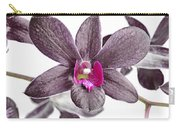 Black And Purple Orchid Carry-all Pouch