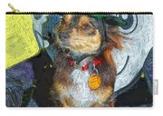 Black And Tan Chihuahua - Such A Good Little Witch Carry-all Pouch
