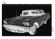 Black And White 1958  Ford Thunderbird  Car Pop Art Carry-all Pouch