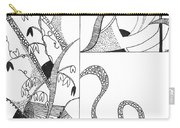Black And White Abstract #2 Carry-all Pouch
