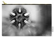 Black And White Abstract Burst Carry-all Pouch