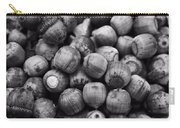 Black And White Acorns Carry-all Pouch