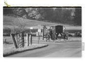 Black And White Amish Horse And Buggy Carry-all Pouch