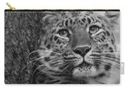 Black And White Amur Leopard Carry-all Pouch