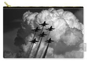 Black And White And Blue Angels Carry-all Pouch