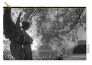 Black And White Angel Carry-all Pouch