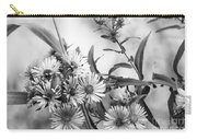 Black And White Asters Carry-all Pouch