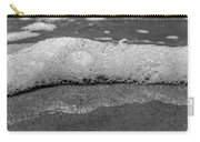 Black And White Beach Bubbles Carry-all Pouch