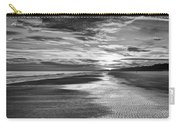 Black And White Beach Carry-all Pouch