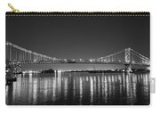 Black And White Benjamin Franklin Bridge Carry-all Pouch