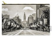Black And White Benjamin Franklin Parkway Carry-all Pouch