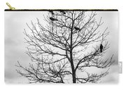 Black And White Blackbirds  Carry-all Pouch