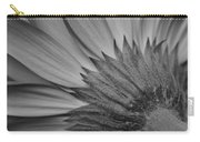Black And White Blossom Carry-all Pouch