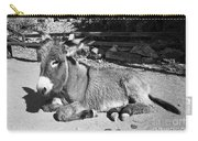 Black And White Burro  Carry-all Pouch