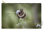 Black And White Butterfly V2 Carry-all Pouch