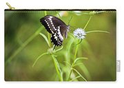 Black And White Butterfly V3 Carry-all Pouch
