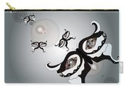 Black And White Butterflyillustration Carry-all Pouch