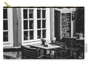 Black And White Cafe Carry-all Pouch