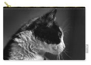 Black And White Cat In Profile  Carry-all Pouch