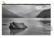 Black And White Cheakamus Lake Carry-all Pouch