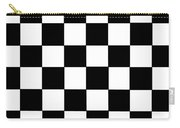 Black And White Checkered Flag Carry-all Pouch