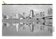 Black And White Cincinnati Panoramic Carry-all Pouch
