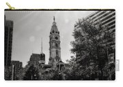 Black And White City Hall Carry-all Pouch