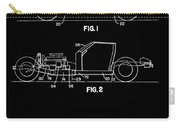 Black And White Corvette Patent Carry-all Pouch