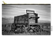 Black And White Covered Wagon Carry-all Pouch by Athena Mckinzie