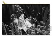 Black And White Daffodil Carry-all Pouch