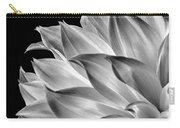 Black And White Dahlia Carry-all Pouch