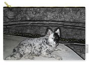 Black And White Dog Carry-all Pouch