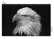 Black And White Eagle Carry-all Pouch