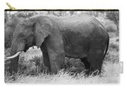 Black And White Elephant Carry-all Pouch