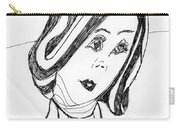 Black And White Fashion Carry-all Pouch